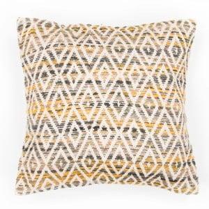 Żółta poduszka dekoracyjna ZicZac Diamond, 45x45 cm