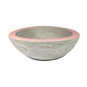 Średnia betonowa misa, różowa