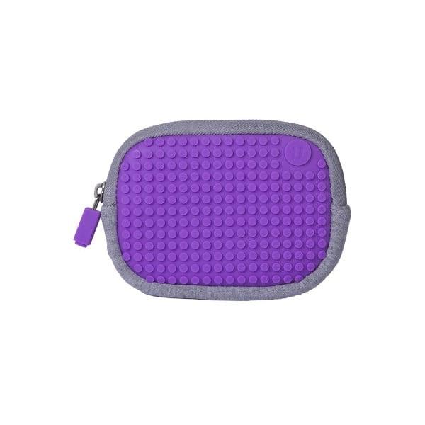 Uniwersalna kieszonka pikselowa, szara/purpurowa