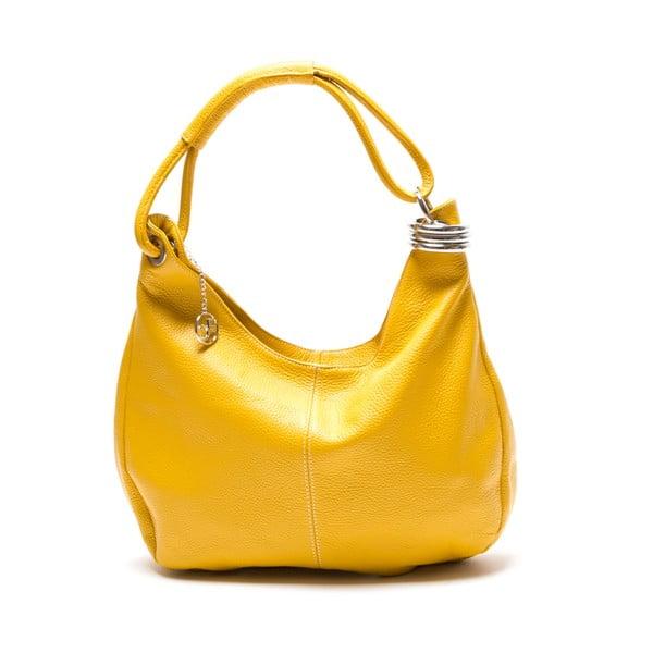 Skórzana torebka Hobo, żółta