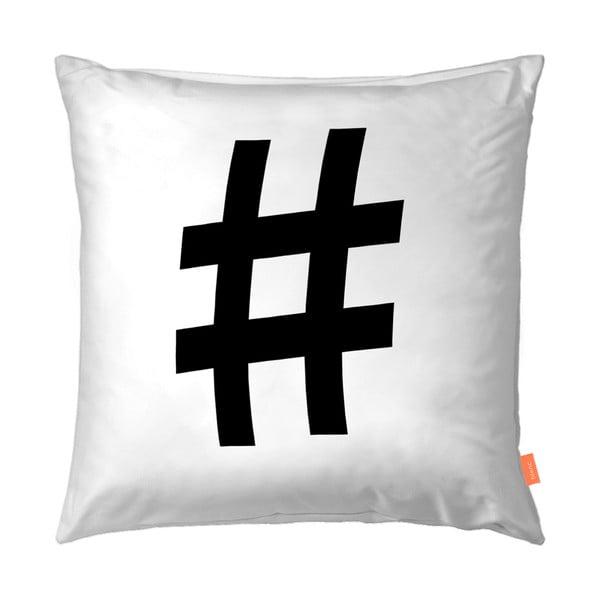 Zestaw 2 bawełnianych poszewek na poduszki Blanc Hashtag, 50x50cm