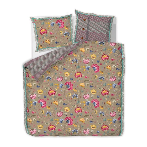 Pościel Pip Studio Floral Fantasy, 200x220 cm, khaki
