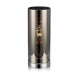 Srebrna lampa stołowa Markslöjd Storm, ⌀ 12 cm