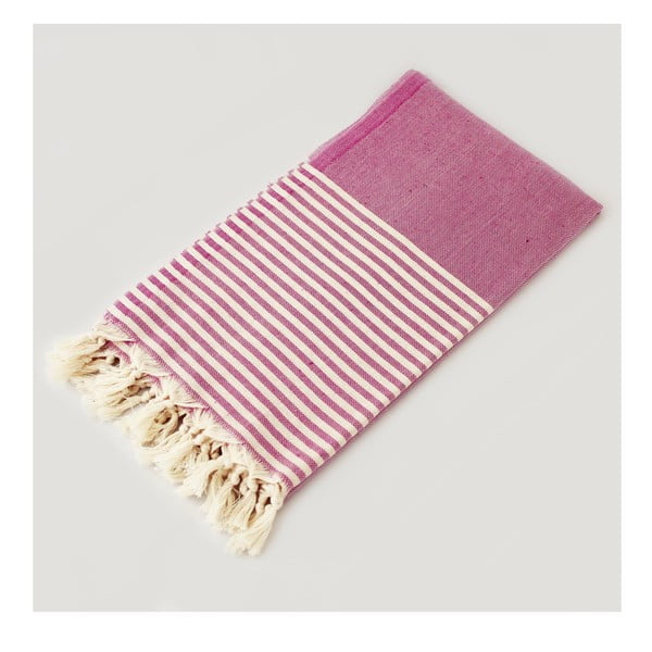 Ręcznik hammam Marine Style Fuchsia, 100x180 cm