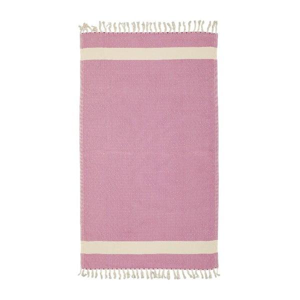 Ręcznik Hamam Diamonds Fuchsia, 100x180 cm