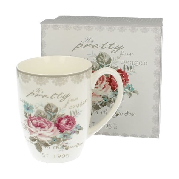 Kubek porcelanowy Roses, 0,4 l