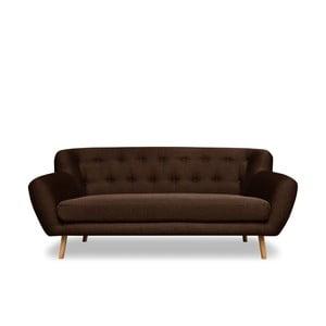 Brązowa sofa 3-osobowa Cosmopolitan design London