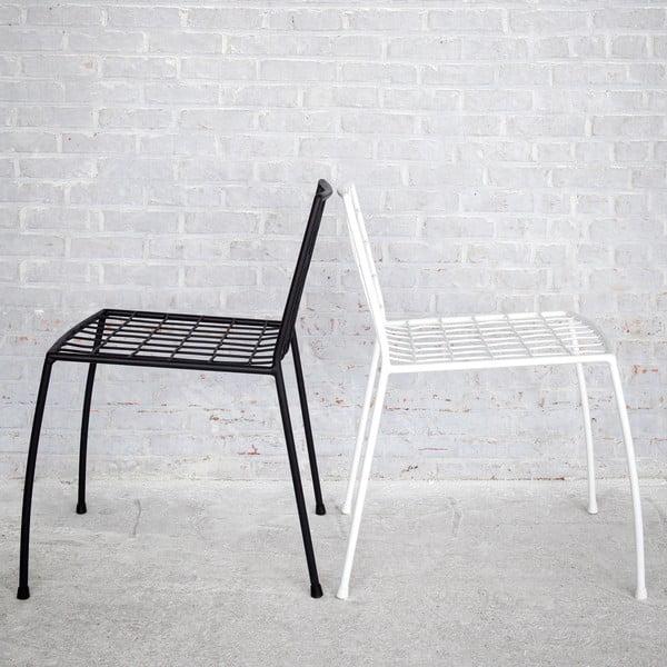 Białe krzesło druciane z siedziskiem Serax Commira