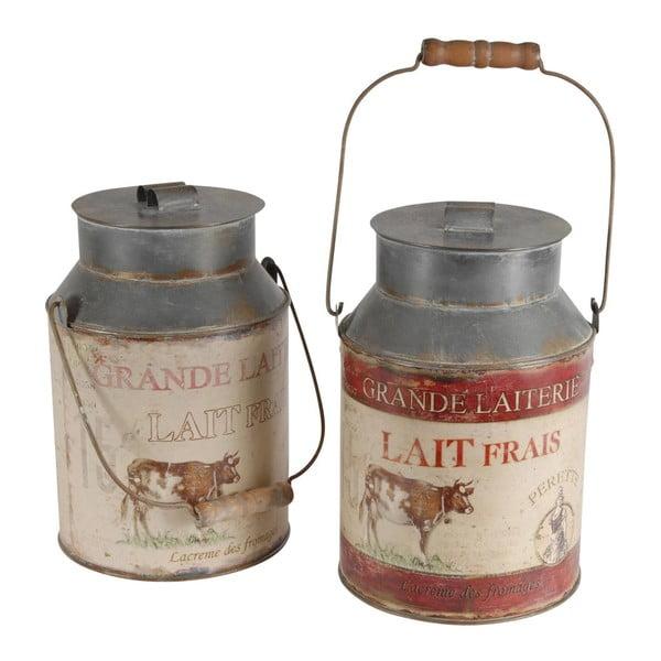 Zestaw 2 dekoracyjnych kanek na mleko Antic Line Milk Jar