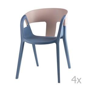 Zestaw 4 szaro-niebieskich krzeseł sømcasa Willa