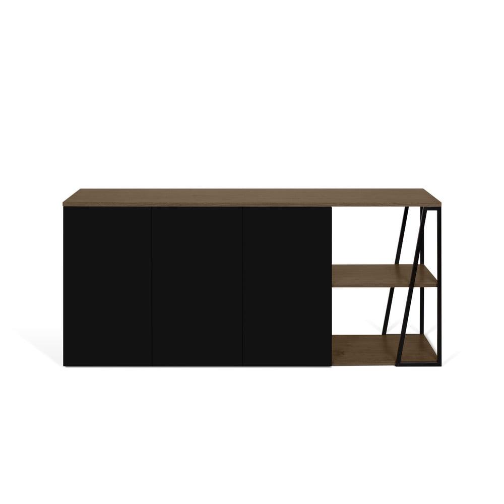 Czarna komoda TemaHome Albi, szer. 190 cm