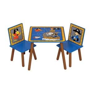 Dziecięcy stół i 2 krzesła Pirates