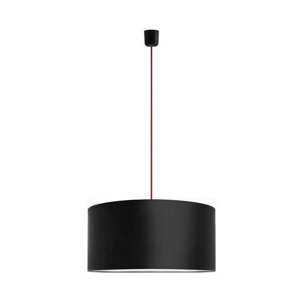 Lampa wisząca Tres XL, czerwona/czarna