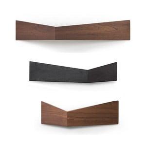 Sada 3 półek wielofunkcyjnych Woodendot Walnut S+M+L