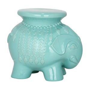 Turkusowy stolik ceramiczny Elephant