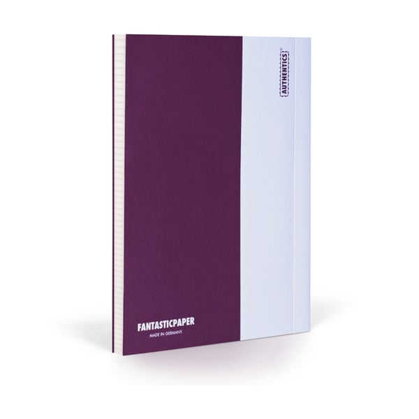 Notes FANTASTICPAPER XL Aubergine/White, w kratkę