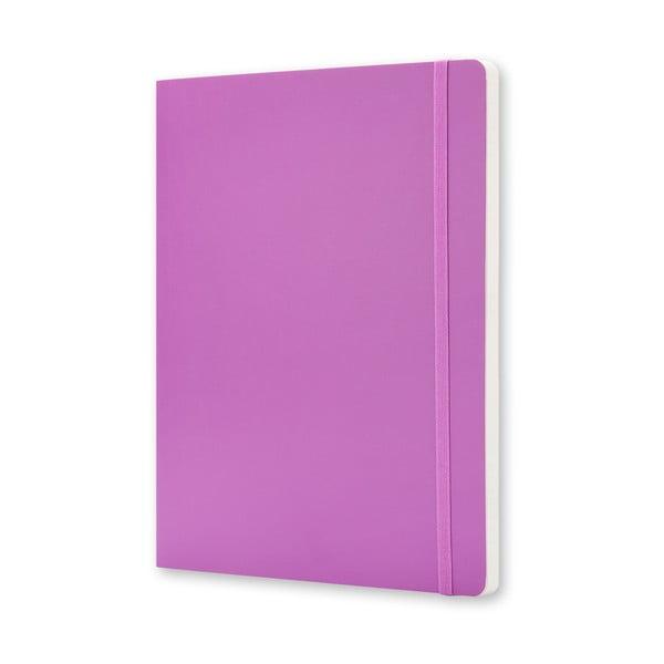 Różowy notatnik z papierem w kropki Moleskine Hard