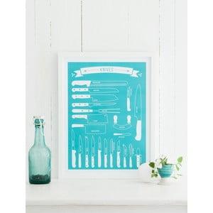Kolorowy plakat Follygraph Knives, 40x50cm