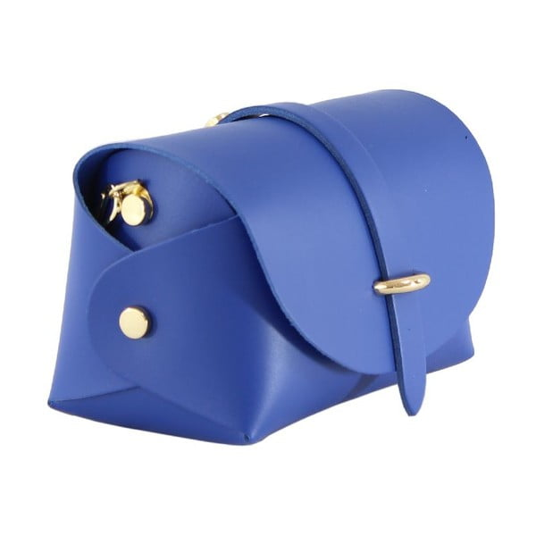 Skórzana torebka przez ramię Slaygie, niebieska