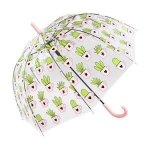 Przezroczysty parasol Cactus, ⌀81cm