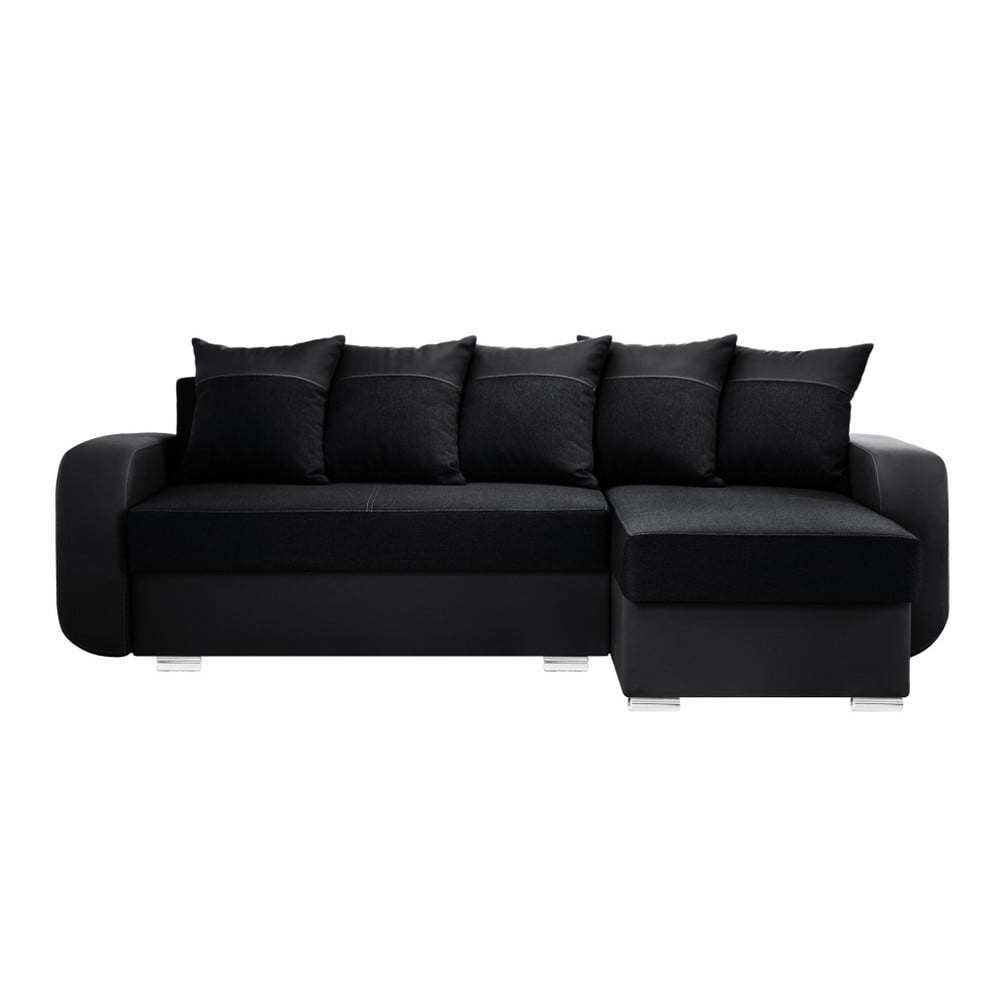 czarny naro nik prawostronny interieur de famille paris destin bonami. Black Bedroom Furniture Sets. Home Design Ideas