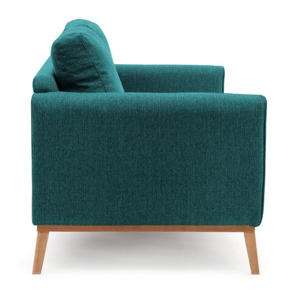 Turkusowa sofa 3-osobowa Vivonita Milton