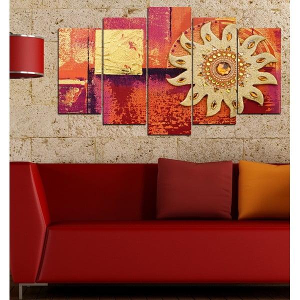 5-częściowy obraz Słońce