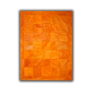 Dywan skórzany Plain Orange, 140x200 cm