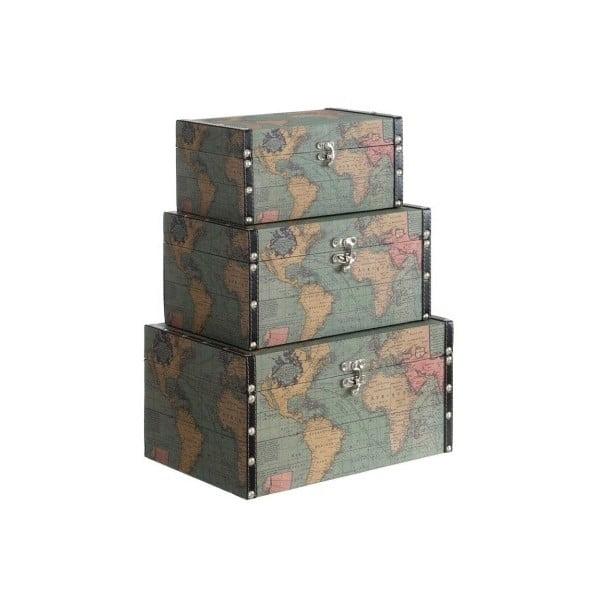 Komplet 3 pudełek Cosas de Casa Mapa świata