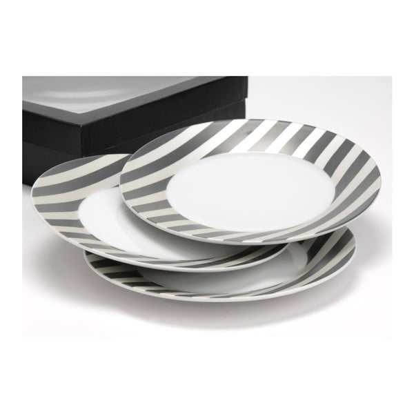Zestaw talerzy Grey Stripe, 19 cm, 6 szt.