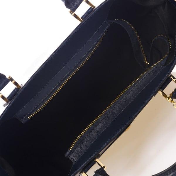Ciemnoniebieska torebka skórzana Federica Bass Orion