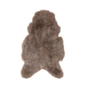 Szaro-brązowa skóra owcza z krótkim włosiem, 100x60 cm