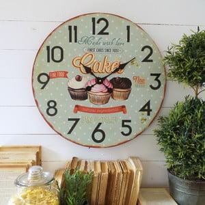 Zegar ścienny Orchidea Cupcakes