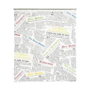 Zasłona prysznicowa Newspaper, 200x180 cm