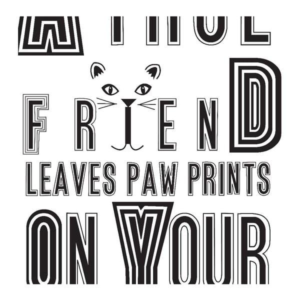 Plakat Cat Friend, 30x40 cm