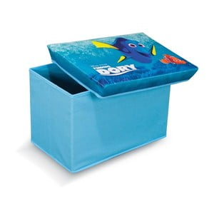Niebieski puf ze schowkiem na zabawki Domopak Living Finding Dory, dł. 49cm
