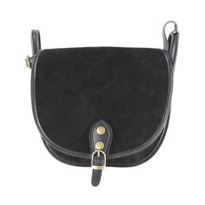 Skórzana torebka przez ramię Gina, czarna
