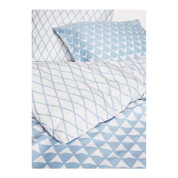 Niebiesko-biała wzorzysta pościel Esprit Mina, 200x200 cm