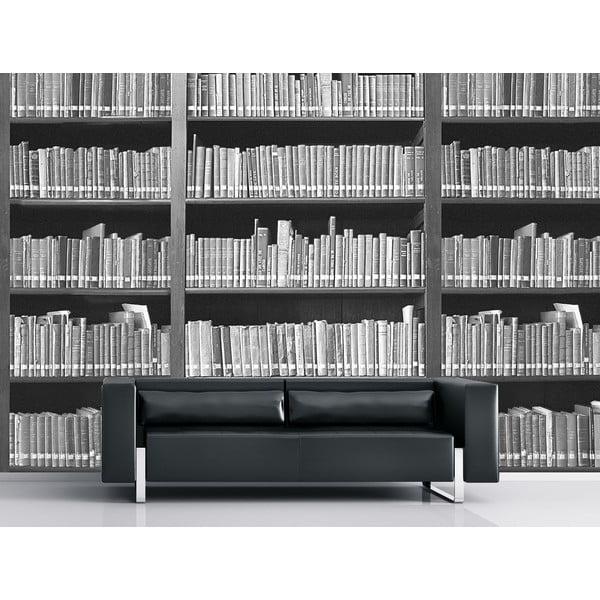 Tapeta wielkoformatowa Czarno-biała biblioteka, 315x232 cm