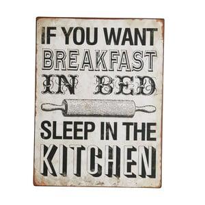 Tablica Sleep in the kitchen, 35x27 cm