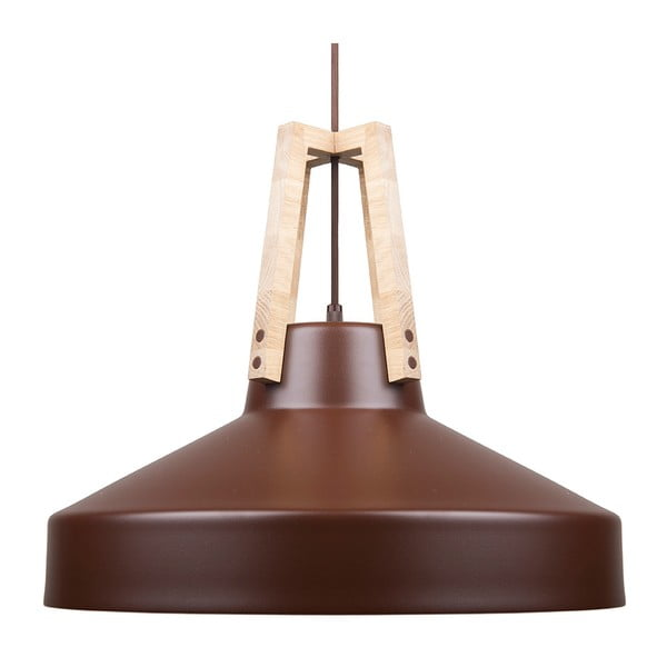 Brązowa lampa wisząca Loft You Work, 44 cm
