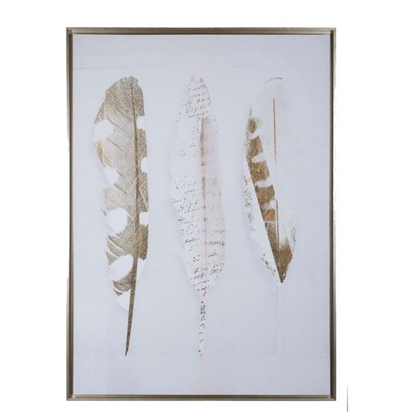 Obraz z motywem z piór J-Line, 100x140 cm