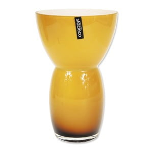Szklany wazon Fornio, pomarańczowy