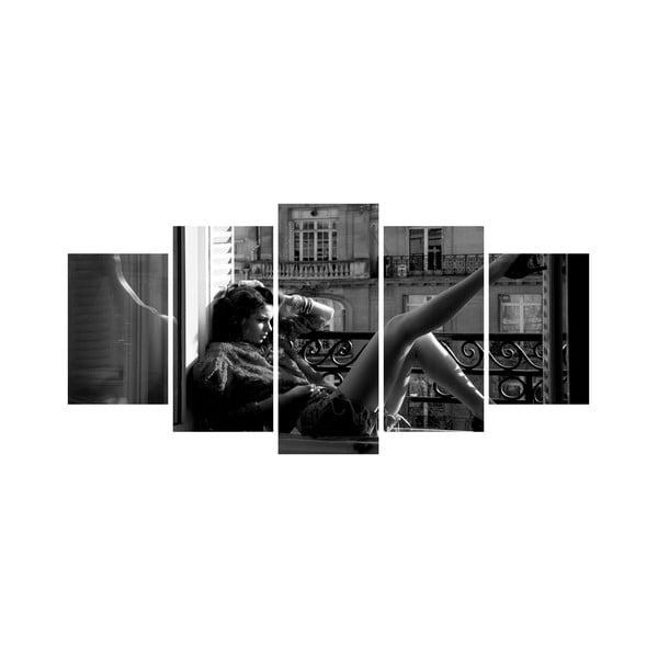 Wieloczęściowy obraz Black&White no. 9, 100x50 cm