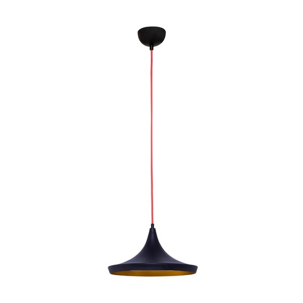 Czarna lampa wisząca Stefano