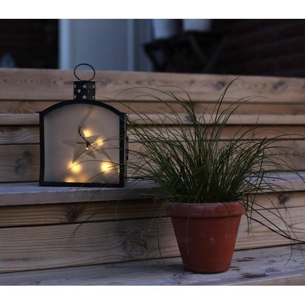 LED lampion Staris 25 cm, czarny