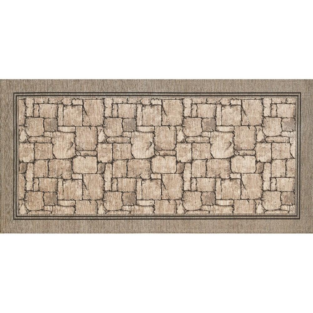 Beżowy chodnik Floorita Wall, 55x140 cm