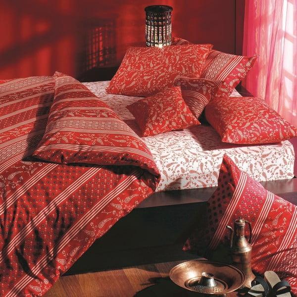 Komplet pościeli z prześcieradłem Red Harem, 200x220 cm