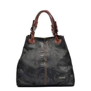 Czarna skórzana torebka Luisa Vannini Marcelle