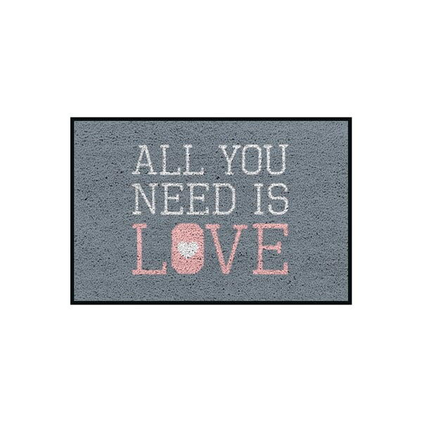 Wycieraczka/dywanik All You Need Is Love, 75x50 cm